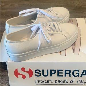 Brand new in Box Platform Supergas white leather